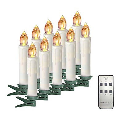 Taper Candles Battery Operated Taper Candles with Remote Led Flicker Warm White