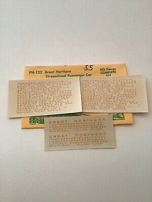 Great Northern GN Steam Locomotive H-3 Champ Decals HO Scale EH-4W
