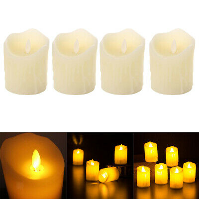 Modern Electronic Oblique Edge LED Flameless Flickering Candle Light 5x16cm