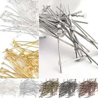 30g Plated Silver Gold Head Pin Ball Pin Finding 21 Gauge 14-70mm Wholesale