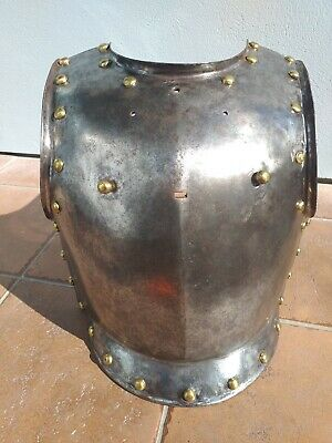 ANTIQUE French / Prussian steel breastplate armour cuirassier armor c. 1840 - 50