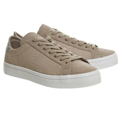 ADIDAS COURT VANTAGE Trainers In Vapour Grey Purple- Suede, Snake ...