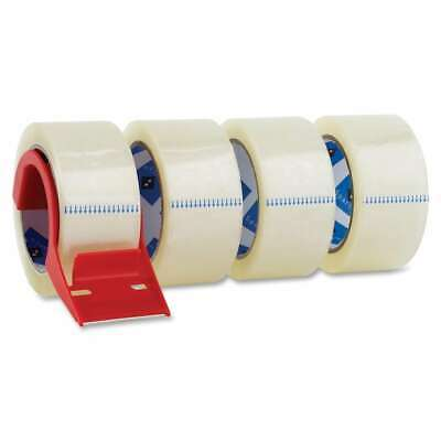 Sparco Heavyduty Packaging Tape with Dispenser (Pack of 4) Clear