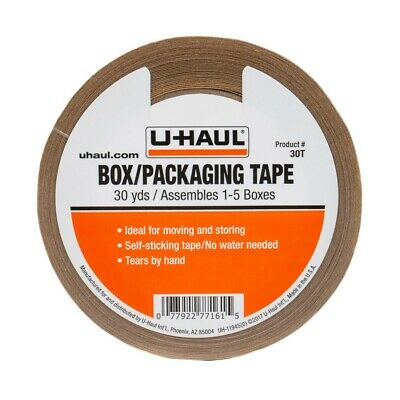 U-Haul Packaging Paper Tape 30yds Rolls Self Adhesive Easily Tears by Hand # 30T