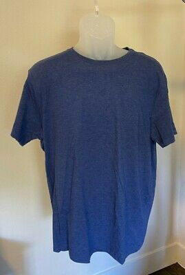 J Crew Mens Washed Jersey Tee Long Sleeve Crew Neck Heather Shale Blue T-Shirt