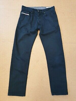 Dd149 Kids Diesel Tepphar-A Slim-Carrot Blue Chino Trousers Age 12 W26 L26