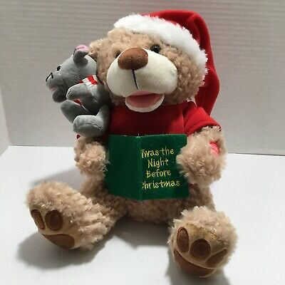 Chantilly Talking Bear and Mouse Twas the Night Before Xmas