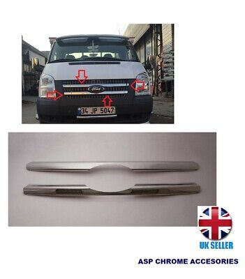 Front Grill Trim Cover pour Ford Transit MK6 MK7 Chrome S Steel 2PCS 2000-2017