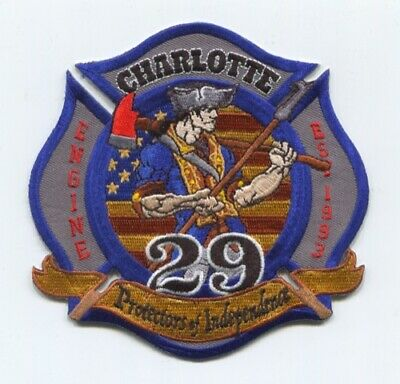 "4/"" x 4.5/"" size fire patch Charlotte  Station-4  /""Protectors of the Lair/"" NC"