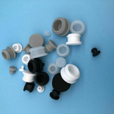 White Silicone Rubber Snap-on Hole Plugs Stopper End Cap Bungs Seals Dust-proof