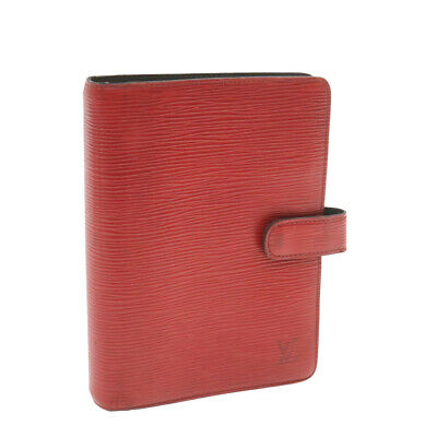 LOUIS VUITTON Epi Agenda MM Day Planner Cover Red R20047 LV Auth yk960