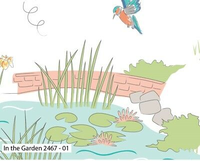 Debbie Shore Lily Pad  The Pond and Water Lilies  £ per Mt 100/% Cotton