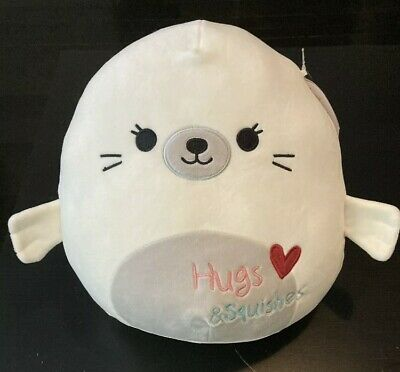 """11/"""" Lucille the Seal Valentines 2021 Squishmallow Plush Pillow Kelly Toys NEW"""