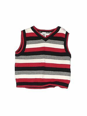 Carter/'s Infant Boys/' Gray V-Neck Sweater Vest with Tennis Strips NWT layering