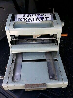 Vintage A.B. Dick Fluid Duplicator 210 Nice Condition Untested No Ink Reservoir