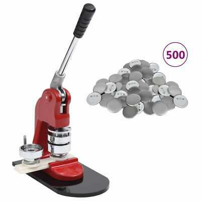 Badge Maker Machine with Circle Cutter /&25//44//58mm Pinback Button Parts 500 Sets