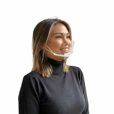 10 PCS MondiMask with Free Earsaver Face Mouth Protection Transparent Plastic...
