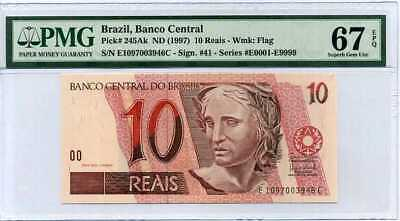 P-245A 1997 Brazil 10 Real UNC