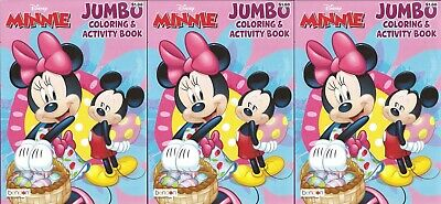 3 - 64 Page Disney Mickey Mouse Easter Coloring Books Children's Kids