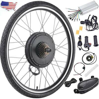 """26"""" 1000W/1500W 48V Electric Bicycle Front/Rear Wheel Ebike Motor Conversion Kit"""