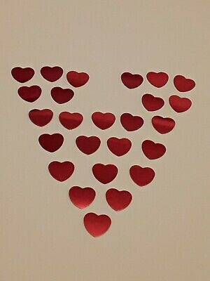 Valentine 14.7gms Red Love Heart Shaped Foil Table Confetti Wedding  Anniversary