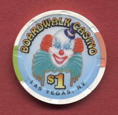 Boardwalk Hotel & Casino, Las Vegas $1 house chip JOCKO the clown