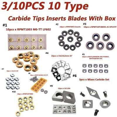Carbide Inserts Tips Blades Turning Lathe Holder Tool Chisel Cutter For Wood