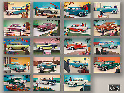 1956 Chevrolet Car Owners Manual and Envelope Package 56 150 210 Bel Air Wagons