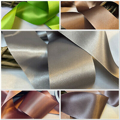 NEW FOR 2021 Berisfords Premium Double Satin Ribbon 5 Shades Choice of 7 Widths