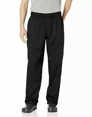 Chef Works Men's Essential Baggy Zip-Fly Chef Pants, Black, X-Large New With Tag