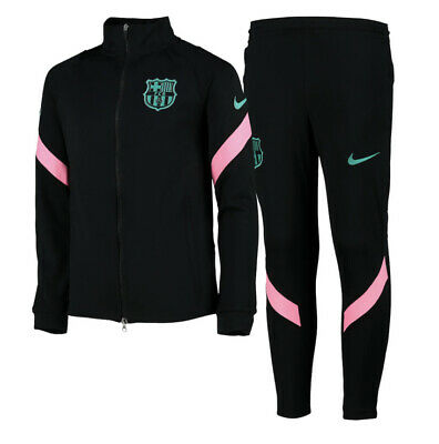 Nike Dri-fit Barcelona Strike Tracksuit - Black - Kids FCB S 4-5 Years