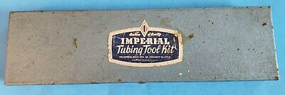 Imperial Eastman Brass Tubing Tool Kit #38766 & Four 93-S Swaging Punch Tools