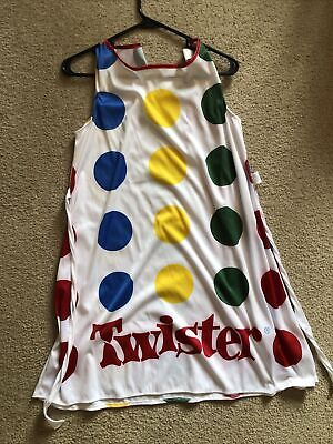 Twister Deluxe Costume Rétro Adulte Costume Robe Chapeau /& Spinner Purse SZ Med 8-10