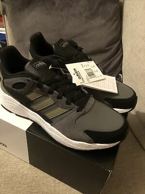 Adidas Crazychaos Men's/Boys Trainers Size 7.5 Grey Black & White  Cloudfoam Ne