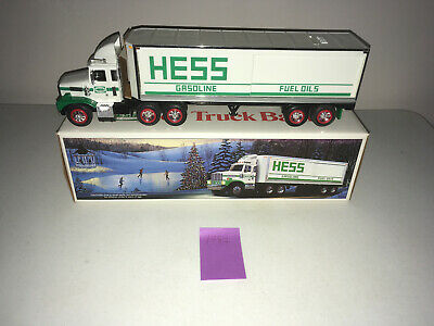 1987 Hess Toy Truck Bank in Original Box