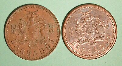 1987 + 1973 Barbados One Cents - INV# L-59