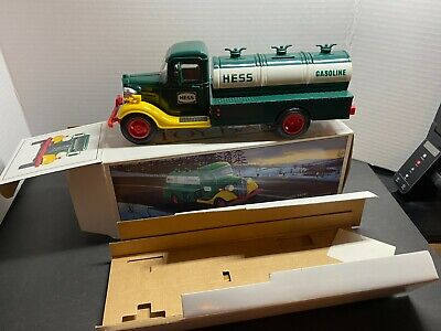 Vintage 1985 First Hess Truck Toy Bank, New In Box Nice !