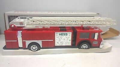 1985 Hess Toy Fire Truck Bank-Red-Working Lights, Excellent Box w/Inserts (D22)