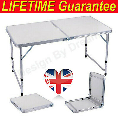 Portable Folding Tables Camping Outside Garden Picnic Festival Fishing BBQ Patio