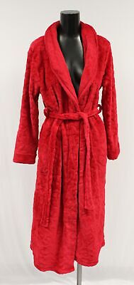 Details about  /Kim Rogers Steel Gray Plush Brushed Fleece Short Wrap Robe w//Pockets $60