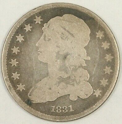 1831 Small Letters Capped Bust Quarter. Good. RAW3906/CH
