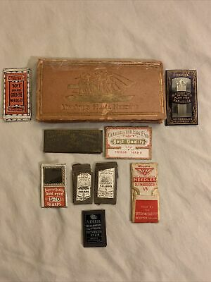 Antique & Vintage Sharps / helix Sewing Needles many more see pics