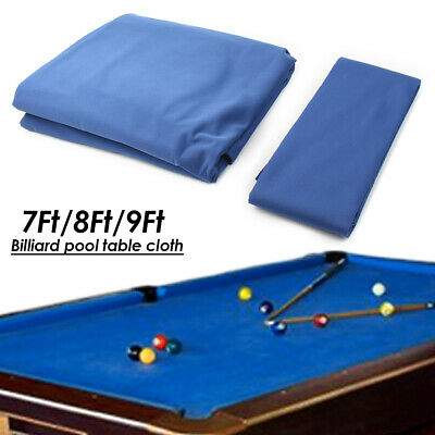 11.2X4.7ft Premium Worsted Wool+Nylon Billiard Pool Table Cloth Cover Green//Blue