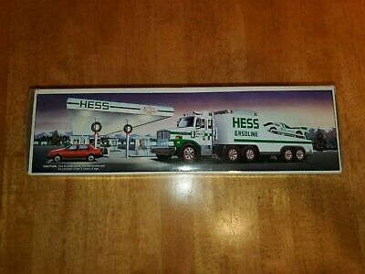 1988 Hess Toy Truck with Racers New Unopened