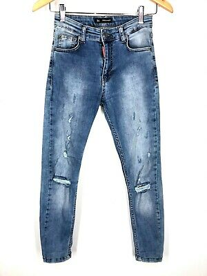 Boy's DSQUARED2 Jeans Blue ITALY Casual Classic Kenny Twist Jeans 15-16 Years