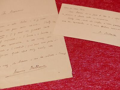 Letter Signed + CDV Autograph Maurice Glossy (Writer Poet Hellenist) 1927