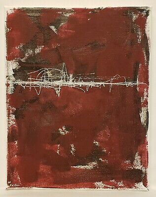No.803 Original Abstract Minimal Modernist Textured Painting By K.A.Davis