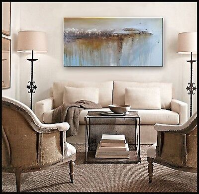 ABSTRACT PAINTING Modern CANVAS WALL ART LARGE, Framed, Signed  ELOISExxx