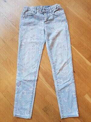 Gap Blue Floral Jeans 10 year old