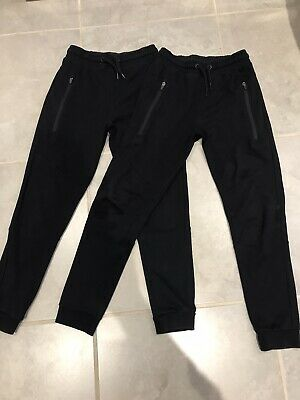 Next Boys Sporty Slim Jogging Bottoms X 2 Pairs Age 10 Years With Zipped Pockets